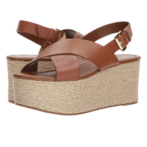 1d1831317e41 Michael Michael Kors platform wedge sandals size 6.  M 5b9523edbaebf68aec502b70